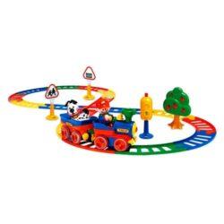 مجموعه قطار با ریل و علائم راهنمایی تولو