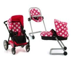 کالسکه کریر و صندلی عروسک مدل I'Coo
