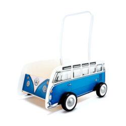 واکر چوبی اتوبوس کلاسیک آبی Hape هپه