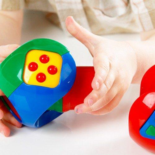 اسباب بازی توپ پازلی چند تکه TOLO