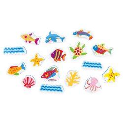 ست استیکر فومی حمام حیوانات دریایی TOLO