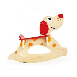راکر چوبی کودک طرح سگ هپه