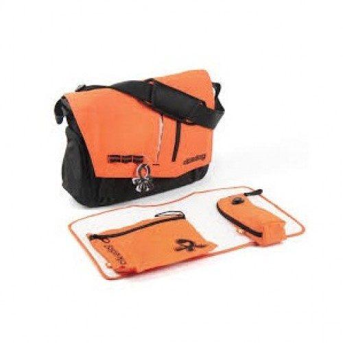 کیف مادر نارنجی مشکی اکی داگ Okiedog LOFT SAMURAI