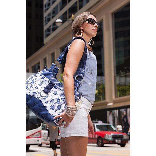 کیف مادر گلدار چرمی اکی داگ Okiedog Delft COPINE