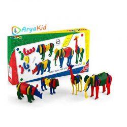 اسباب بازی ساز و باز حیوانات جعبه ای