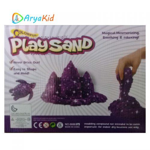 شن بازی Play Sand رنگ بنفش