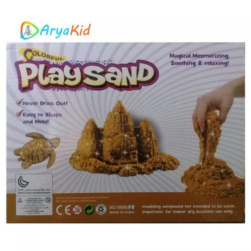 شن بازی Play Sand رنگ طلایی