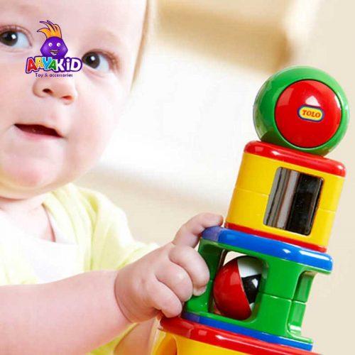 اسباب بازی پازل برج استوانه ای تولو2