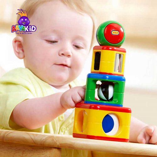 اسباب بازی پازل برج استوانه ای تولو3