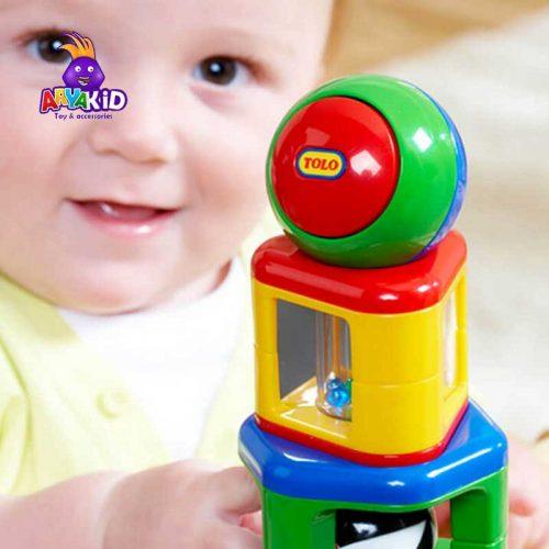 اسباب بازی پازل برج استوانه ای تولو4