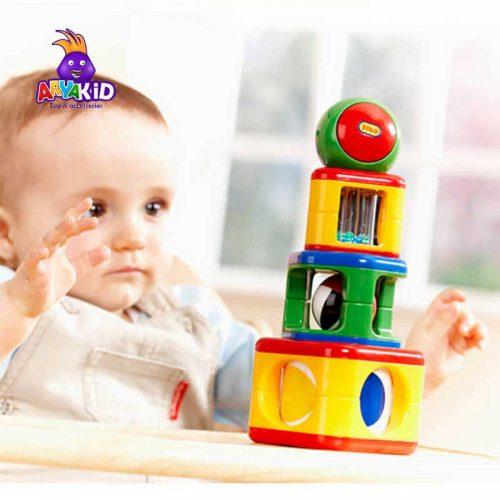 اسباب بازی پازل برج استوانه ای تولو5