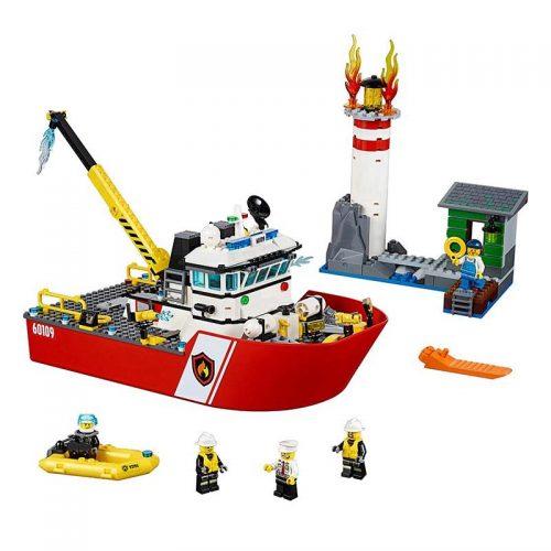 لگو قایق آتشنشانی ۴۱۲ قطعه سری LEGO CITY