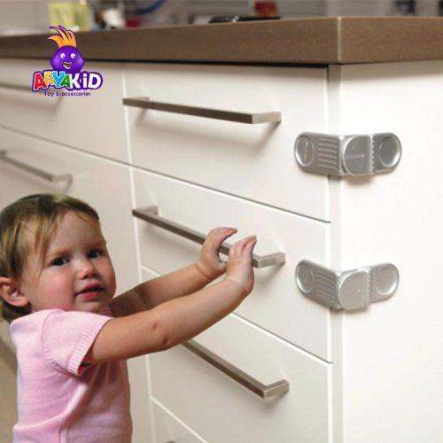 قفل کشوی کودک نقره ای دریم بیبی2
