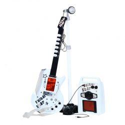 گیتار الکتریکی با اسپیکر و میکروفن