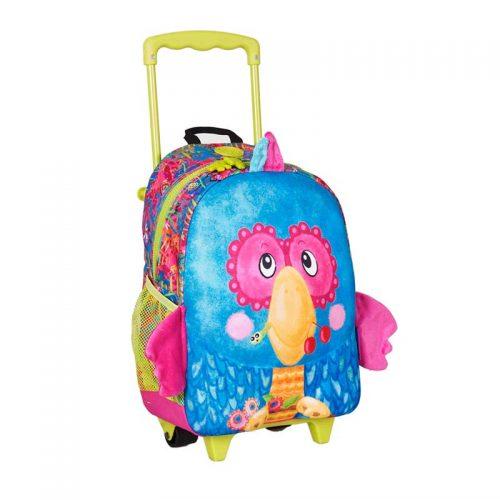 چمدان چرخدار طرح طوطی اوکی داگ Okiedog