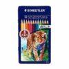 مداد رنگی ۱۲ رنگ جعبه فلزی STAEDTLER