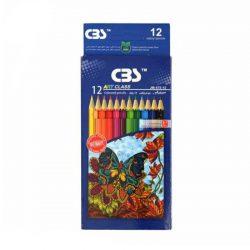 مداد رنگی ۱۲ رنگ جعبه مقوایی CBS