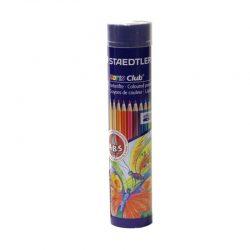 مداد رنگی ۱۲ رنگ فلزی استوانه ای STAEDTLER