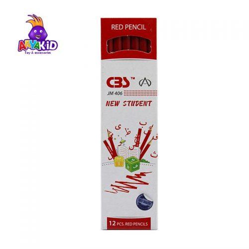 مداد قرمز CBS بسته ۱۲ عددی مدل JM 4062