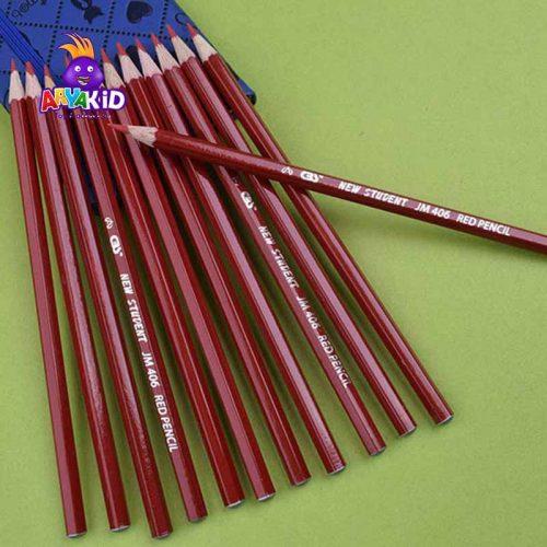 مداد قرمز CBS بسته ۱۲ عددی مدل JM 4063
