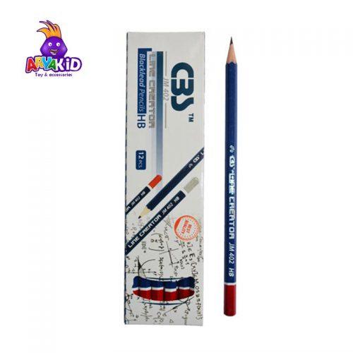مداد مشکی CBS بسته ۱۲ عددی مدل JM 4021