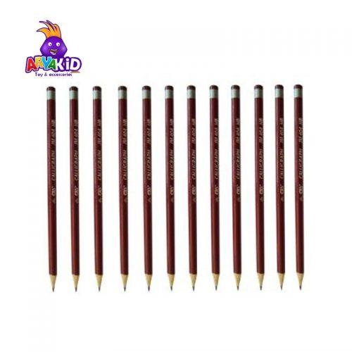 مداد مشکی CBS بسته ۱۲ عددی مدل JM 4041