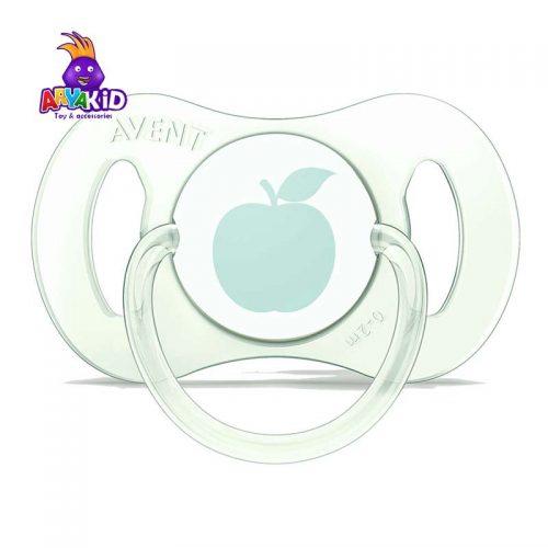 پستانک ارتودنسی mini اونت طرح سیب ۰ تا ۲ ماه1