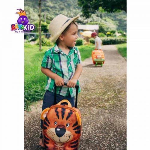 چمدان چرخدار کودک طرح ببر اوکی داگ Okiedog1