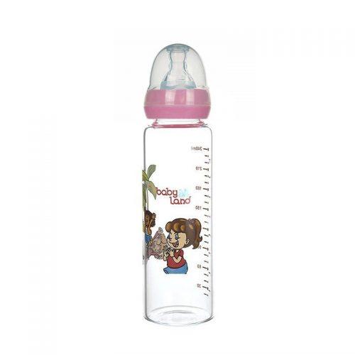 شیشه شیر پیرکس با سری گرد ۲۴۰ میل baby Land