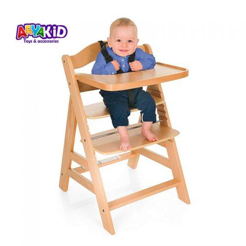 صندلی غذاخوری چوبی هاوک مدل Gamma Natural1