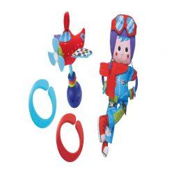 عروسک آویز خلبان و هواپیما موزیکال یوکیدو