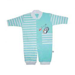 لباس نوزاد سرهمی طرح پنگوئن به آوران