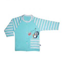 لباس نوزاد مانتویی طرح پنگوئن به آوران