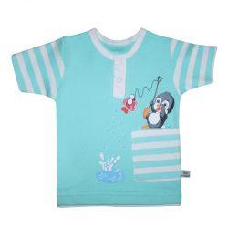 لباس نوزاد و کودک تیشرت طرح پنگوئن به آوران