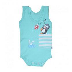 لباس نوزاد و کودک رکابی زیردکمه دار طرح پنگوئن به آوران