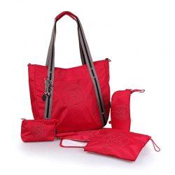 کیف لوازم مادر و نوزاد قرمز Okiedog سری Luxe classic
