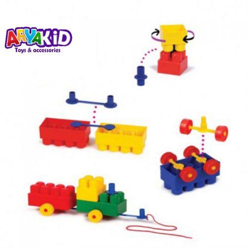 لگو آجره ۷۰ قطعه با فرزندان3