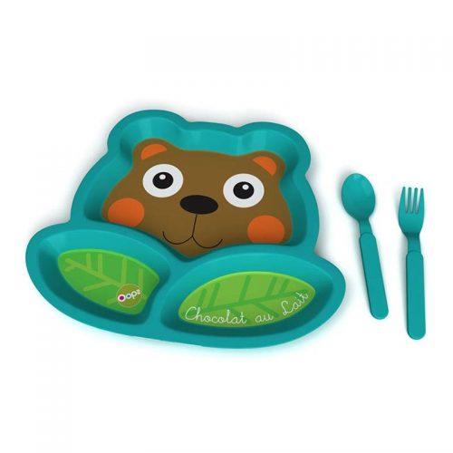 ست ظروف غذاخوری طرح خرس Oops