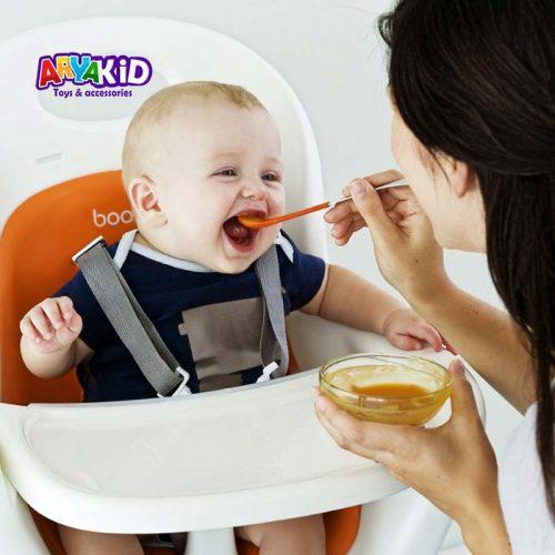 قاشق غذاخوری دوطرفه کودک بون1