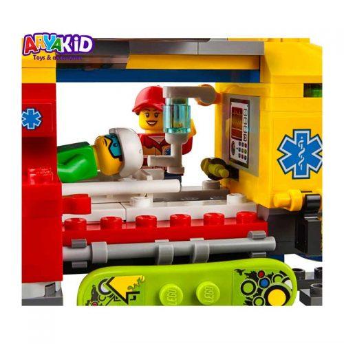 لگو هلیکوپتر آمبولانس ۱۹۰ قطعه سری LEGO CITY4