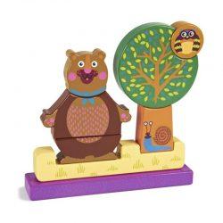پازل سه بعدی چوبی طرح خرس Oops