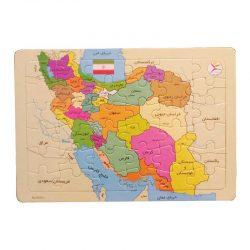 پازل آموزشی نقشه ایران