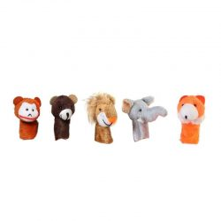 عروسک انگشتی طرح حیوانات جنگل بسته ۵ عددی