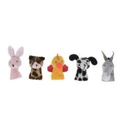 عروسک انگشتی طرح حیوانات مزرعه بسته ۵ عددی